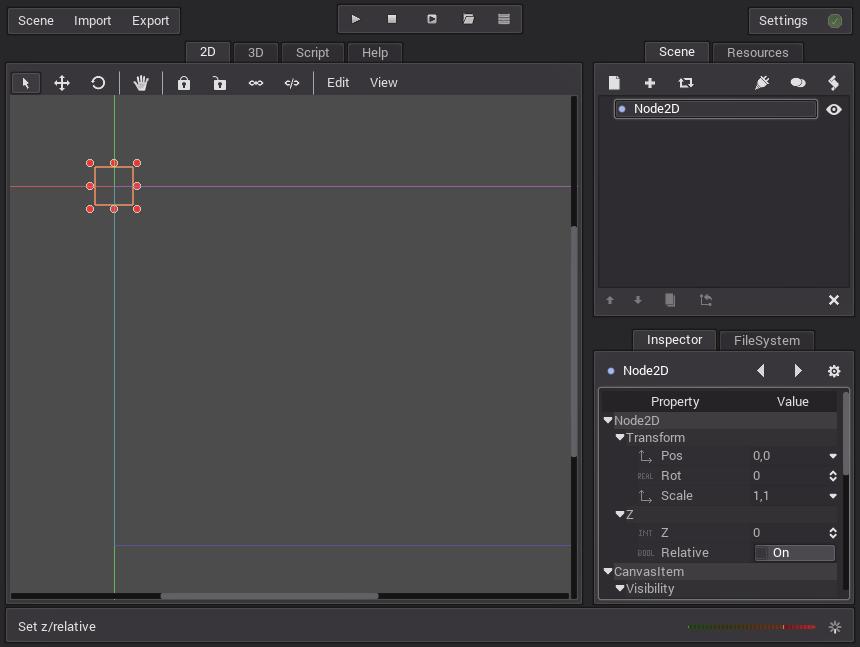 chapter: Defines-Scenes / Godot Game Engine