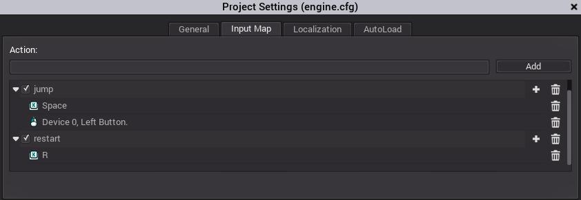 chapter: Manage-Input / Godot Game Engine