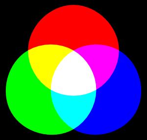 ... additive des couleurs : lajout de couleur tend vers le blanc