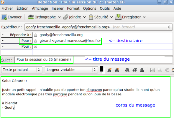 Chapter Rediger Un Message Thunderbird